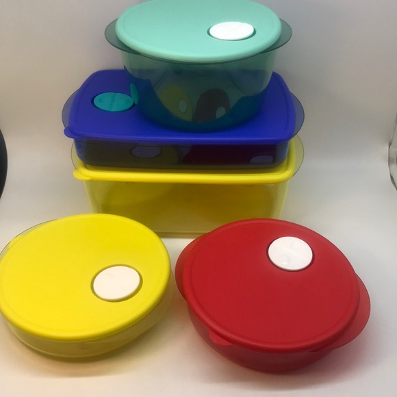 Tupperware CrystalWave  Container Set of 5